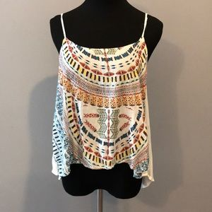 Zara tribal print apron top size medium
